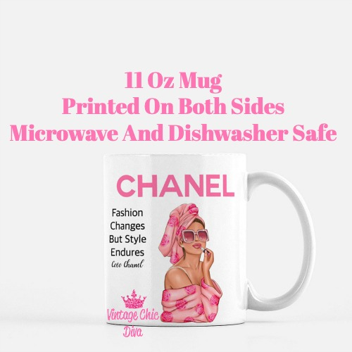 Chanel Magazine Girl18 Coffee Mug-