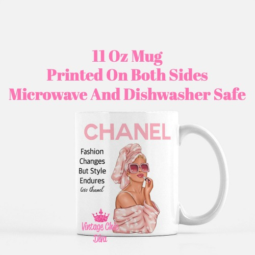 Chanel Magazine Girl1 Coffee Mug-