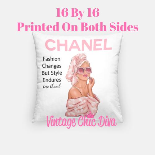 Chanel Magazine Girl1 Pillow Case-