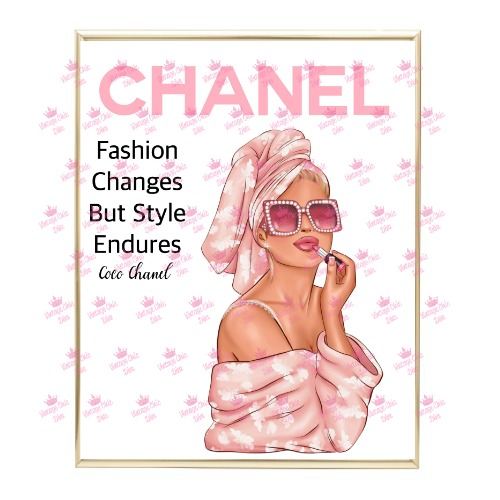 Chanel Magazine Girl1 Wh Bg-