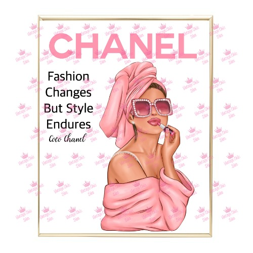 Chanel Magazine Girl21 Wh Bg-
