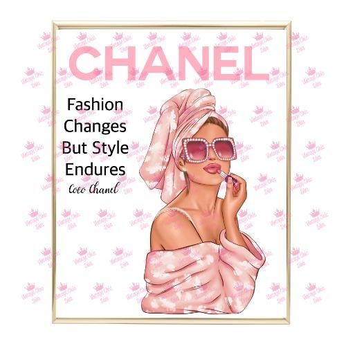Chanel Magazine Girl2 Wh Bg-