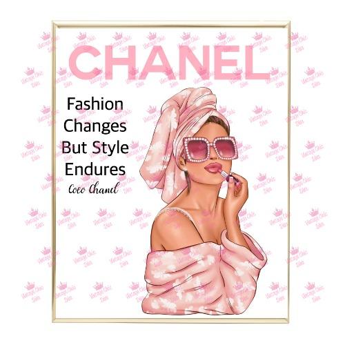 Chanel Magazine Girl3 Wh Bg-