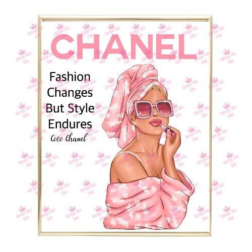Chanel Magazine Girl4 Wh Bg-