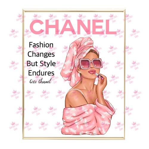 Chanel Magazine Girl5 Wh Bg-