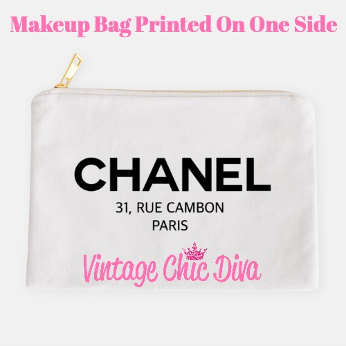 Chanel Paris1 Makeup Bag White-