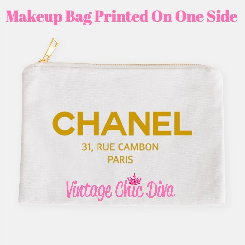 Chanel Paris2 Makeup Bag White-