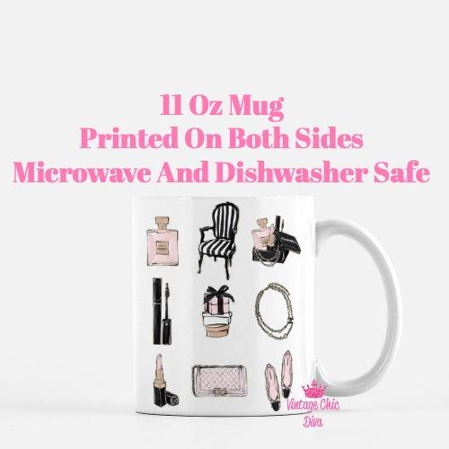 Chanel Pink Black Set10 Coffee Mug-