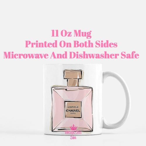 Chanel Pink Black Set12 Coffee Mug-