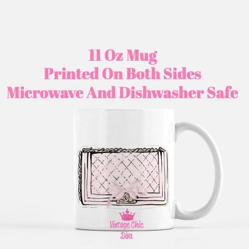 Chanel Pink Black Set17 Coffee Mug-