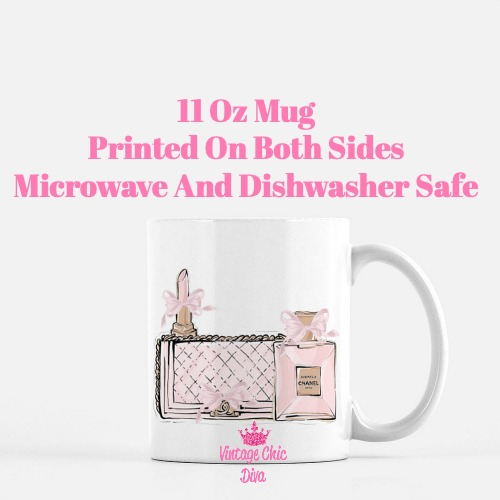 Chanel Pink Black Set18 Coffee Mug-