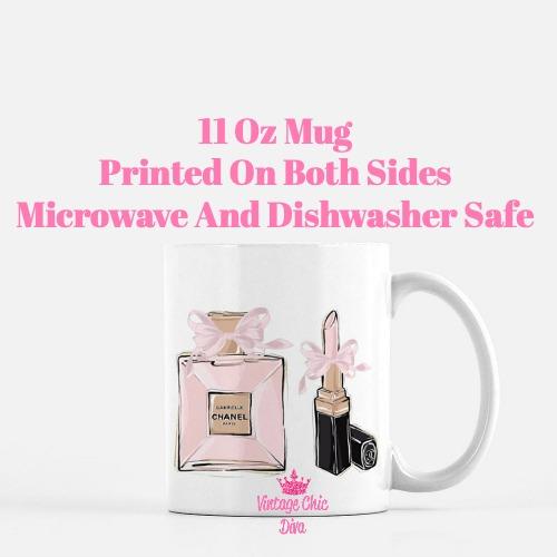 Chanel Pink Black Set19 Coffee Mug-