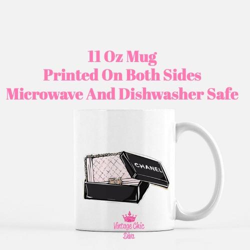Chanel Pink Black Set1 Coffee Mug-