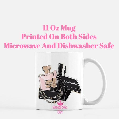 Chanel Pink Black Set3 Coffee Mug-