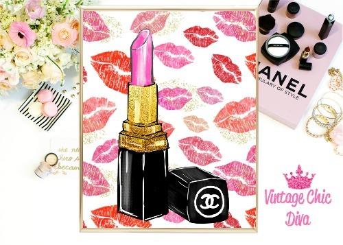 Chanel Pink Lipstick Lips Background-