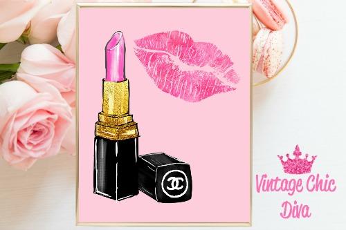 Chanel Pink Lipstick Pink Lips Pink Background-
