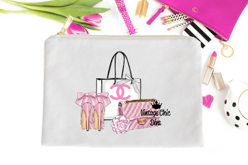 Chanel Pink Set1 White-