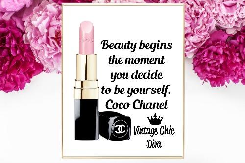 Coco Chanel Quote17 White Background-