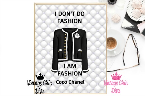 Coco Chanel Quote5 Tufted Background-