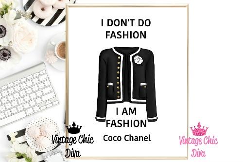 Coco Chanel Quote5 White Background-