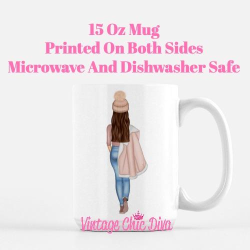 Fall Beanie Girl4 Coffee Mug-