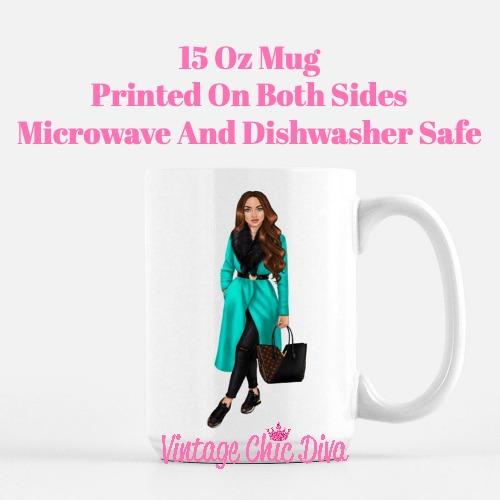 Fall Fashion Girl11 Coffee Mug-