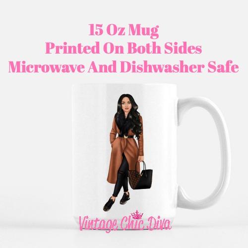 Fall Fashion Girl15 Coffee Mug-