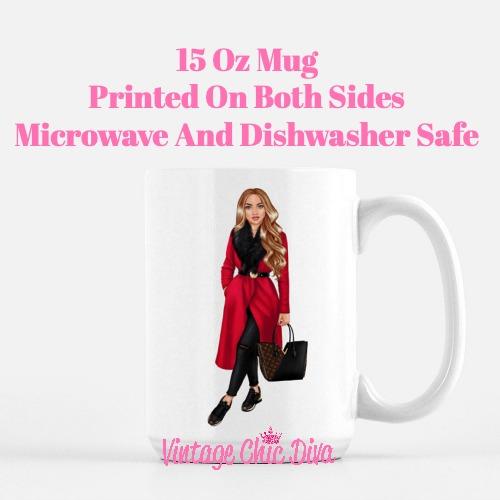 Fall Fashion Girl16 Coffee Mug-