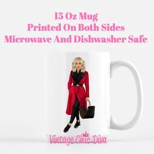 Fall Fashion Girl1 Coffee Mug-