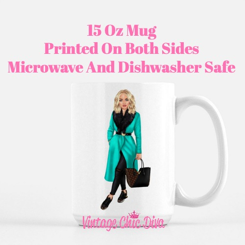 Fall Fashion Girl2 Coffee Mug-