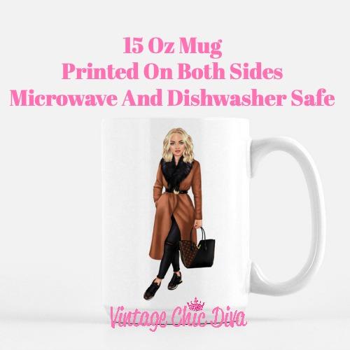 Fall Fashion Girl3 Coffee Mug-