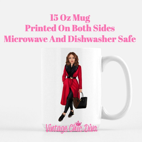 Fall Fashion Girl4 Coffee Mug-
