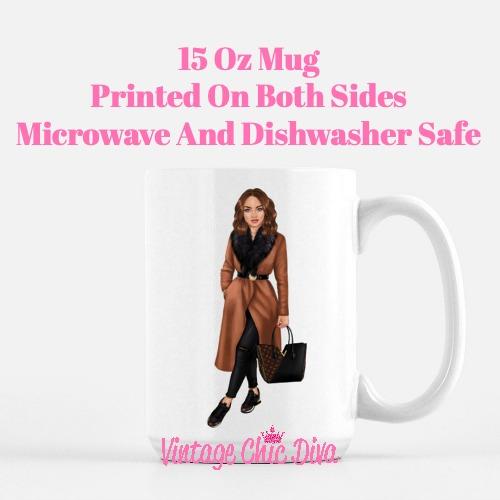 Fall Fashion Girl6 Coffee Mug-