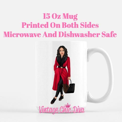 Fall Fashion Girl7 Coffee Mug-