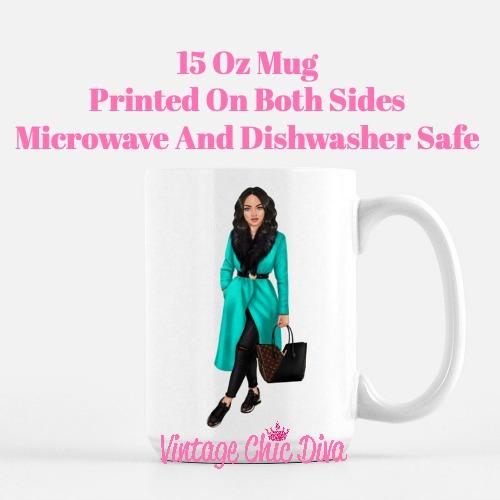 Fall Fashion Girl8 Coffee Mug-
