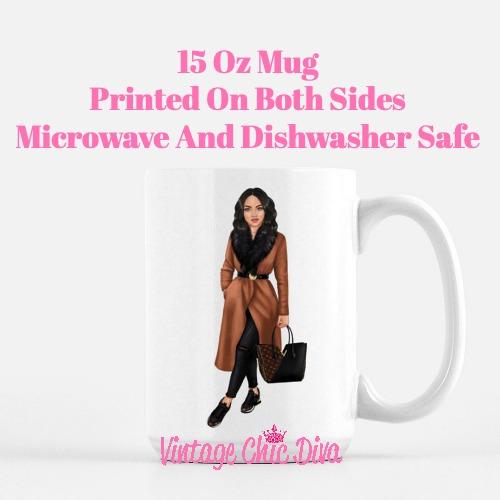 Fall Fashion Girl9 Coffee Mug-