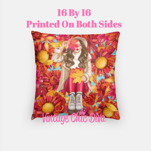 Fall Girly1 Pillow Case-