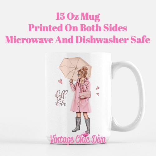 Fall Glam Girl1 Coffee Mug-