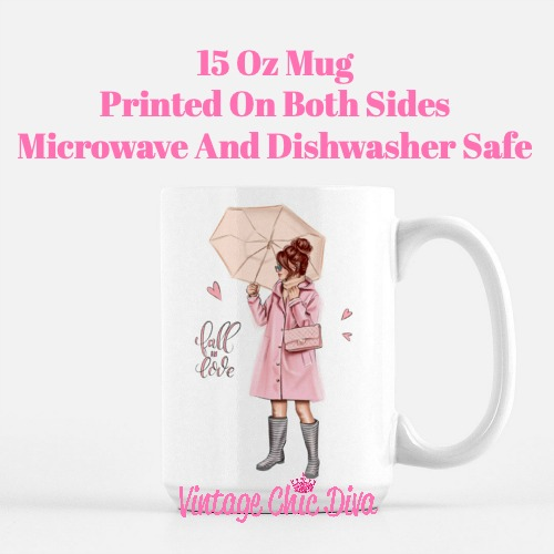Fall Glam Girl2 Coffee Mug-