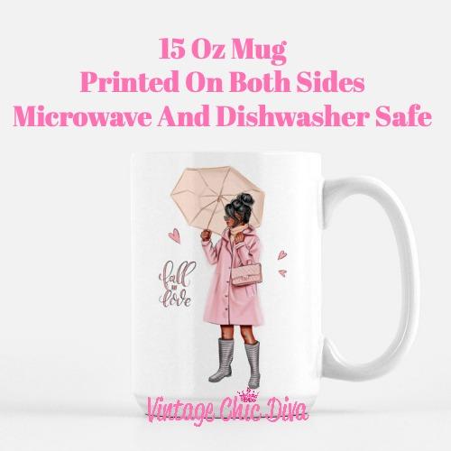Fall Glam Girl3 Coffee Mug-