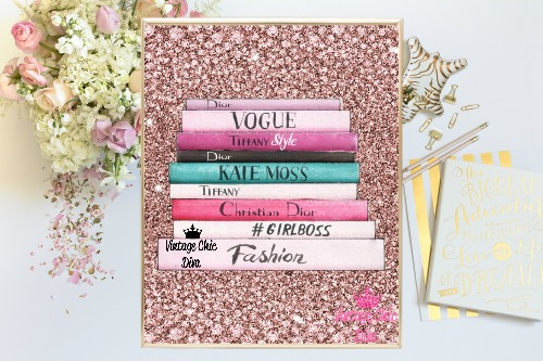 Fashion Books Pink Pink Diamond Background-
