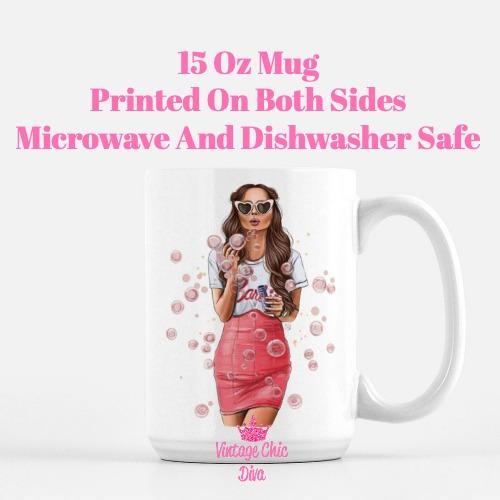 Fashion Bubble Girl1 Coffee Mug-