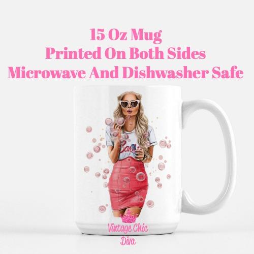 Fashion Bubble Girl2 Coffee Mug-