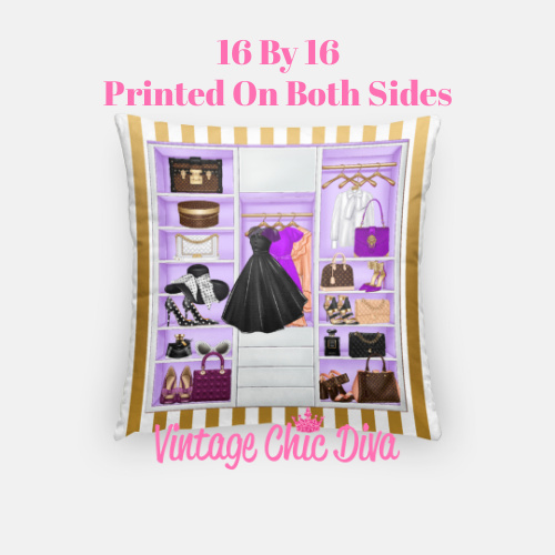 Fashion Closet12 Pillow Case-