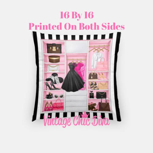 Fashion Closet1 Pillow Case-