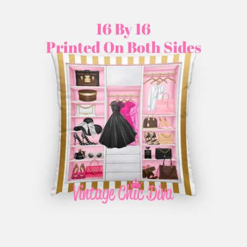 Fashion Closet2 Pillow Case-
