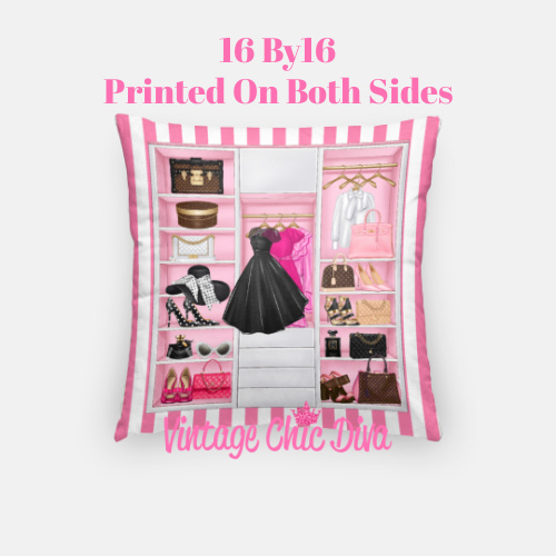 Fashion Closet3 Pillow Case-
