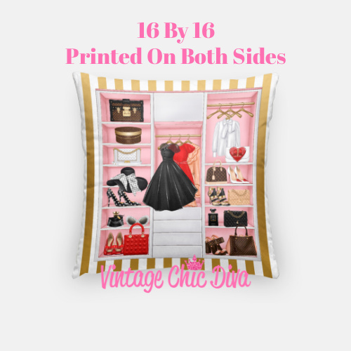 Fashion Closet8 Pillow Case-