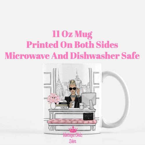 Fashion Girl Boss5 Coffee Mug-