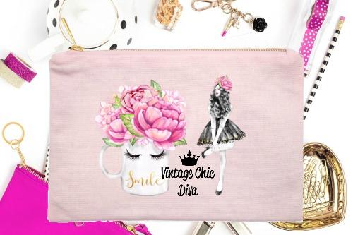 Fashion Girl Smile1 Pink-